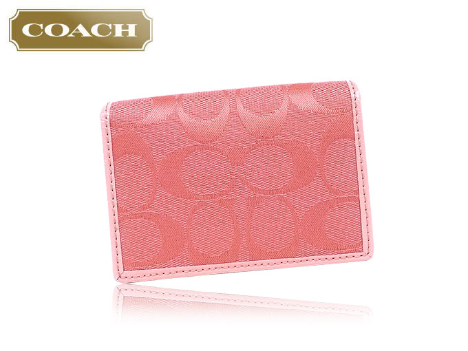 Import collection rakuten global market coach coach coach coach accessory card holders f63764 63764 coral signature business card case outlet products colourmoves