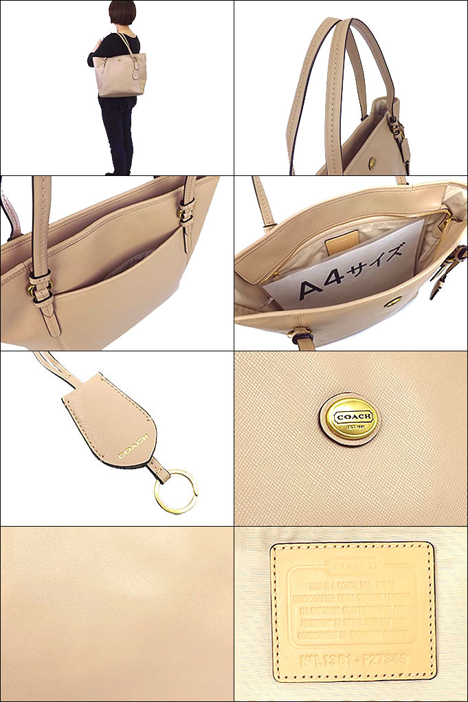 c13b4f8d91 COACH HANDBAGS F27349 peyton leather zip top tote หนังแท้ค่ะ. Size   13  1 4