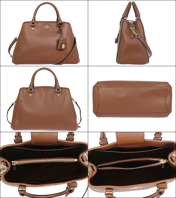Coach COACH ☆ bags (tote bag) F34607 34607 saddle luxury cross-grain  leather small Margot carryall outlet items 8b8a9ce2cb92f
