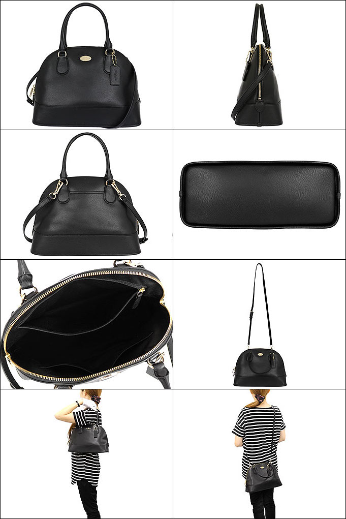a0f4a9246d6d ... sierra 58287 satchel eb66a 4d7b1  promo code for coach coach bags  handbags f33909 33909 black luxury cross grain leather cola domed