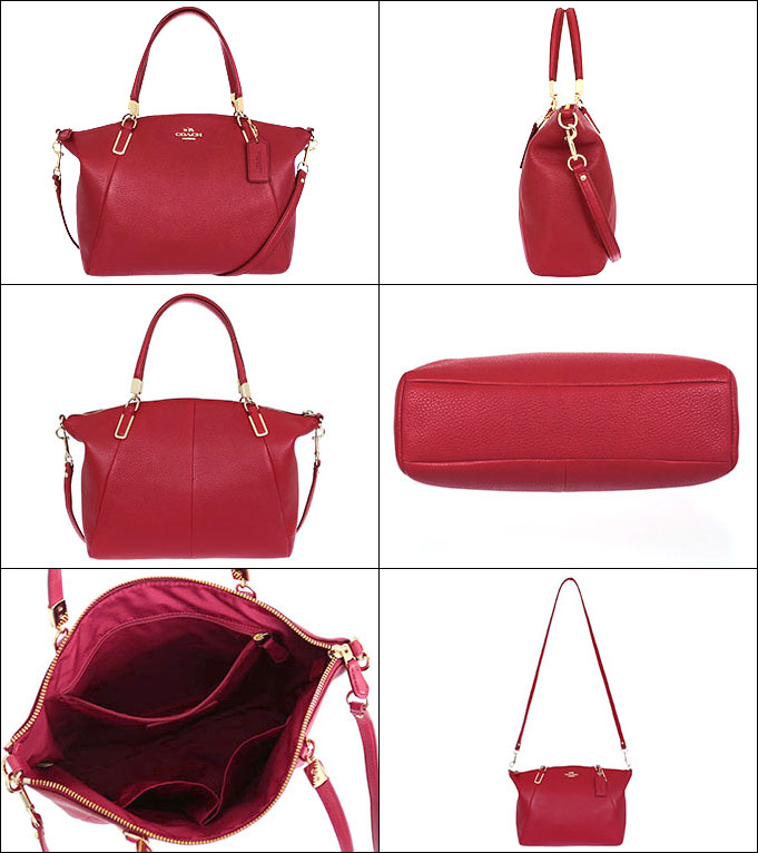 fb6b2fd31b Coach COACH ☆ bags (handbags) F34493 34493 classic red luxury pebbled  leather small Kelsey satchel outlet items