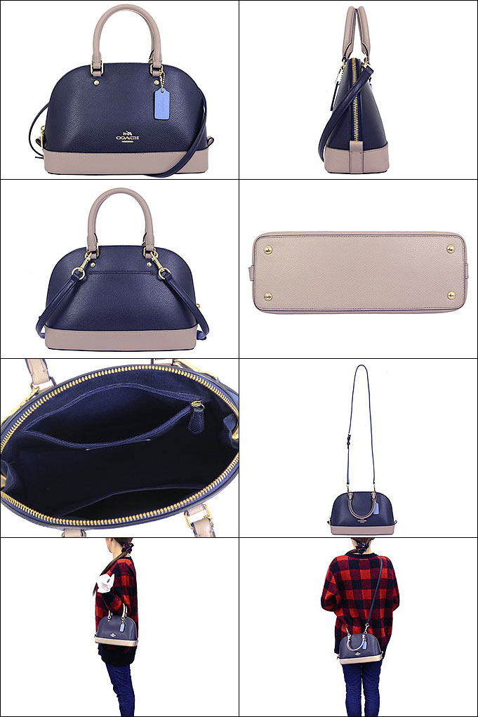 5fc486d894ef ... new zealand coach coach bags handbags f37249 37249 navy grave chi  luxury color block cross grain