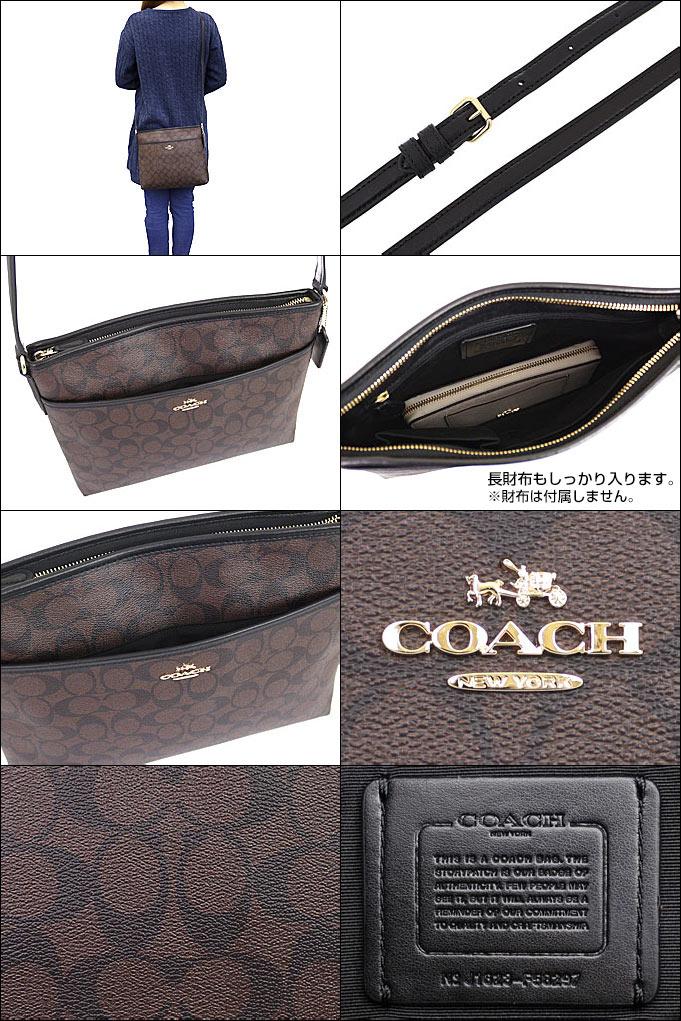 e3f6aae7c6c0 コーチ COACH☆バッグ(ショルダーバッグ)F58297 58297 ブラウン×ブラック ラグジュアリー シグネチャー PVC レザー ファイル  バッグ アウトレット品