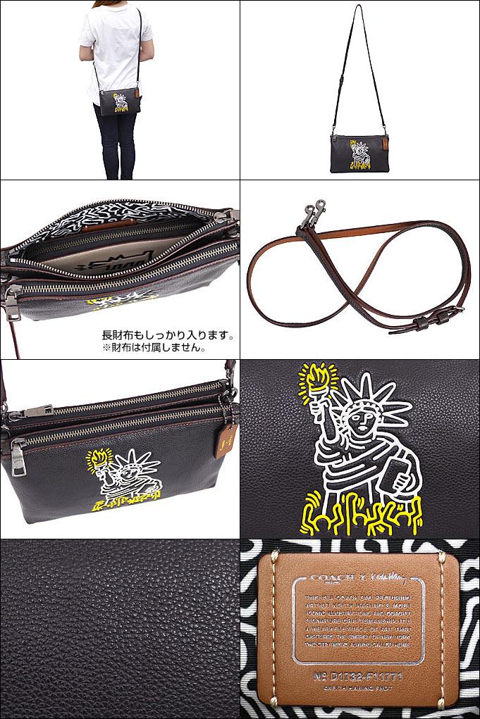 コーチ COACH F11771 コーチ×キース・ヘリング Keith Haring コラボ ペブルド レザー レイラ クロスボディー 本革仕立て 斜めがけバッグ