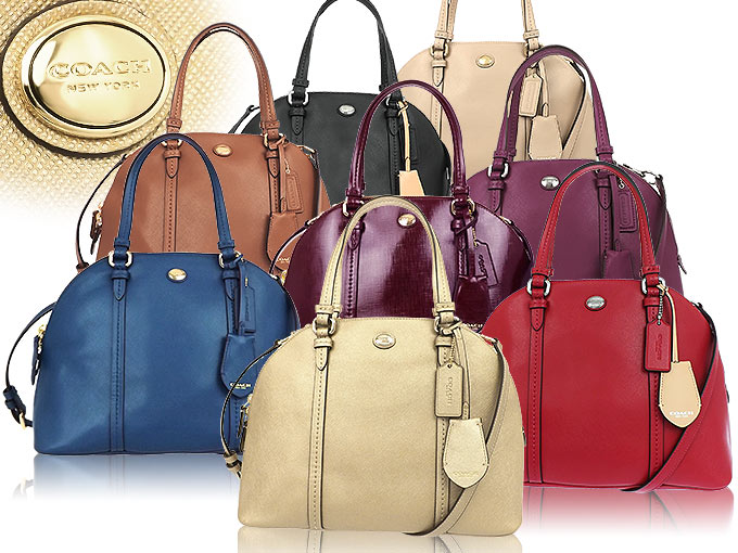 Coach COACH ☆ bags (handbags) F25671 25671 Peacock Peyton leather Cola  domed satchel outlet products 296b7b8a74