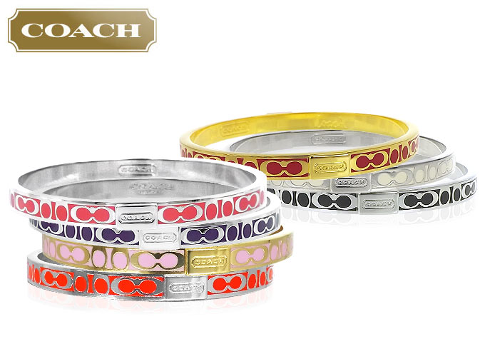 Coach Accessories Bracelets F96857 96857 Persimmon Signature Small Bangle Outlet Products