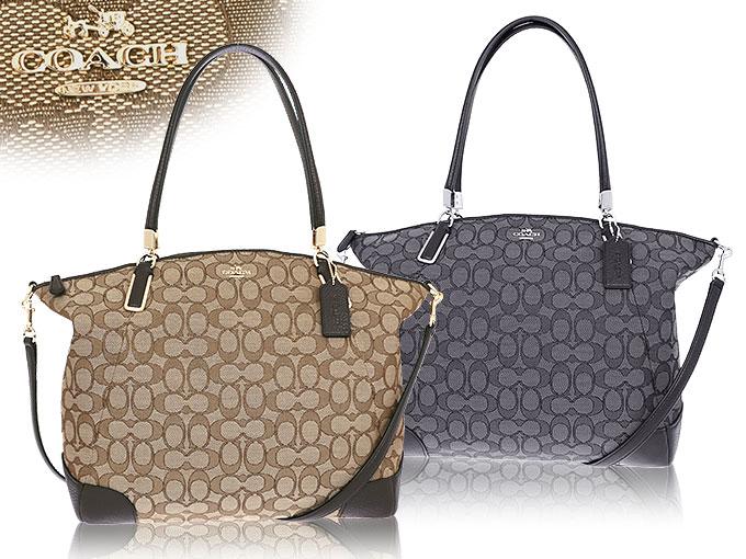 Coach Bags Handbags F36220 36220 Khaki Brown Outline Signature Large Kelsey Satchel Outlet Products