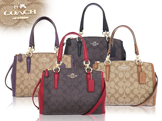 3ff1f6efc6ac Coach COACH ☆ bags (tote bag) F36718 36718 Brown x black luxury signature  mini Christie carryall outlet items