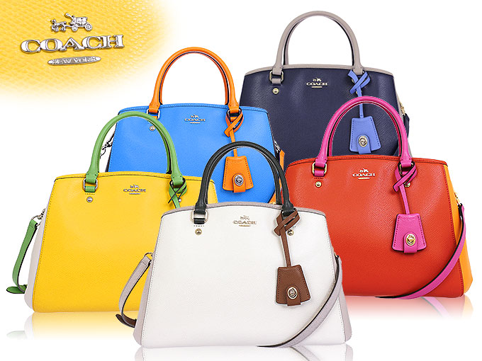 850f1ce26 Coach COACH ☆ bags (tote bag) F37248 37248 chalk x grave Chi luxury color  block cross-grain leather small Margot carryall outlet items