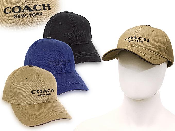 Coach COACH ☆ apparel (hats) F86005 86005 Navy COACH logo baseball cap  outlet products 512686cc352