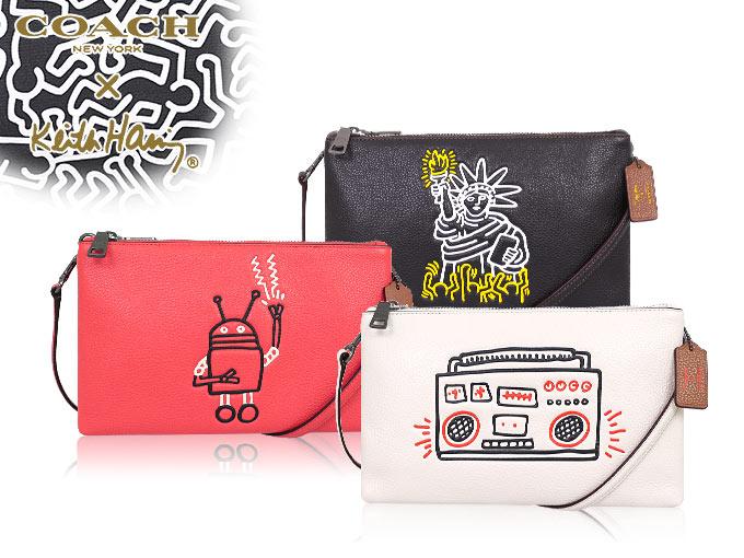 05235d858e28 コーチ COACH F11771 コーチ×キース・ヘリング Keith Haring コラボ ペブルド レザー レイラ クロスボディー
