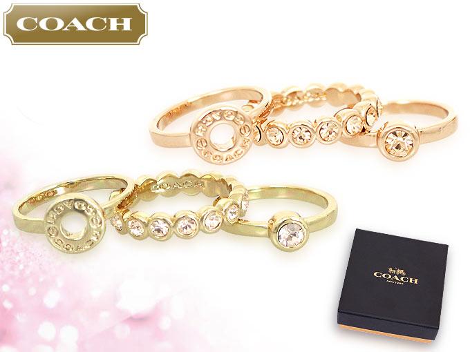 99c7521b886e コーチ COACH☆アクセサリー(指輪)F56418 56418 ゴールド オープン サークル リング セット (ボックス付き) アウトレット品
