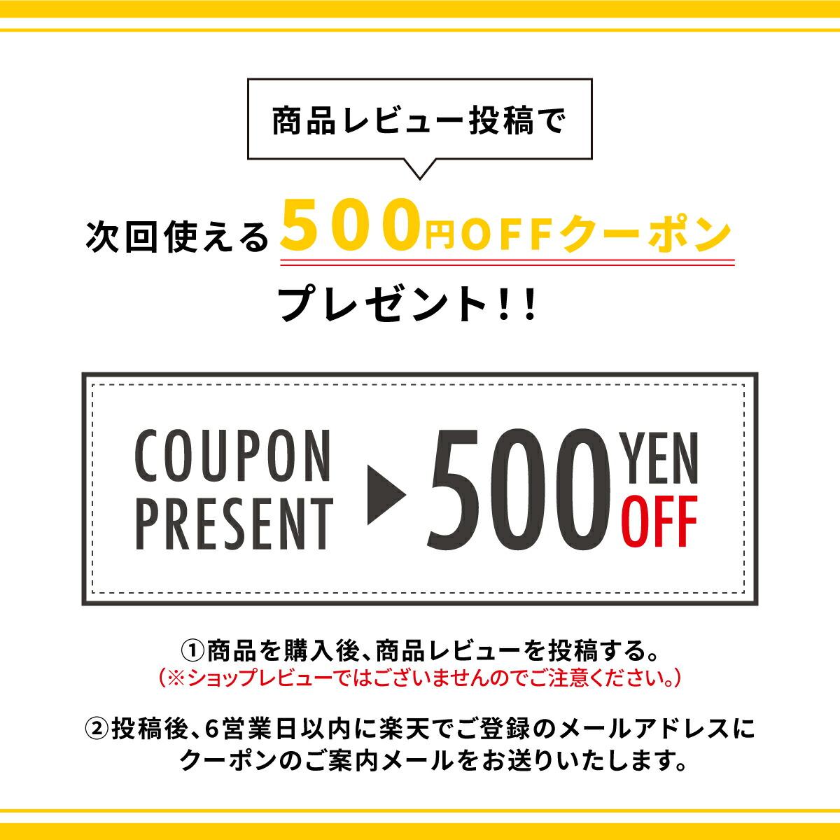 レビューで500円クーポン