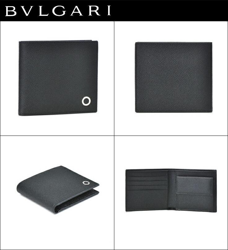 2eb1f548b256 ブルガリ 2つ折り財布 BVLGARI 財布 メンズ BVLGARI BVLGARI MAN ブラック 2019年春夏新作 30396