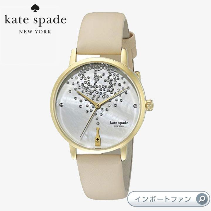 KateSpadeケイトスペードメトロレザーストラップウォッチ時計metroleatherstrapwatch 34mm