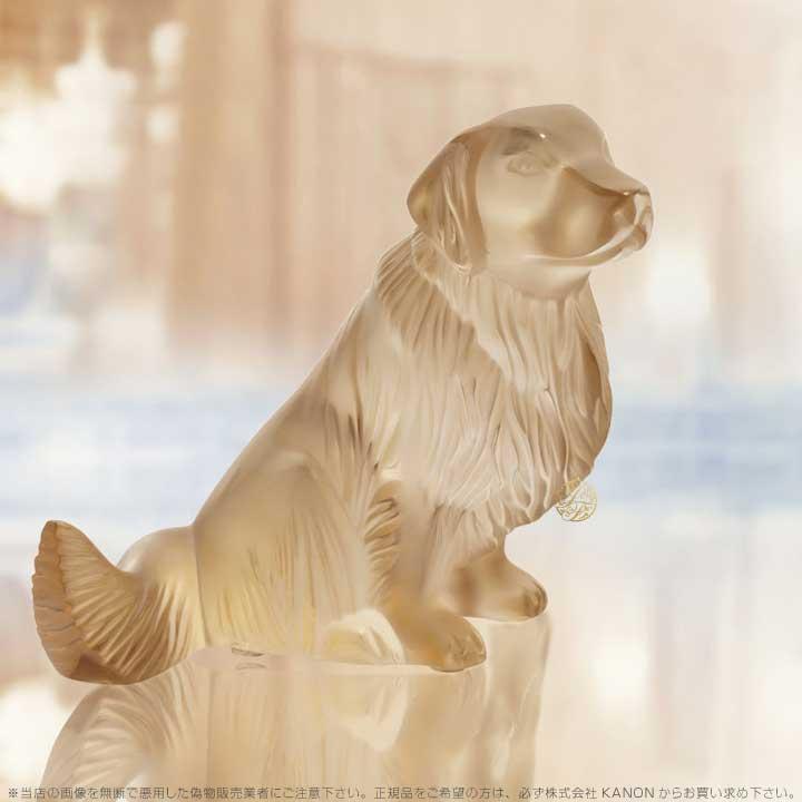 ラリック 犬 ゴールデンレトリバー ゴールド 10520300 Lalique Golden Retriever Sculpture Gold Luster