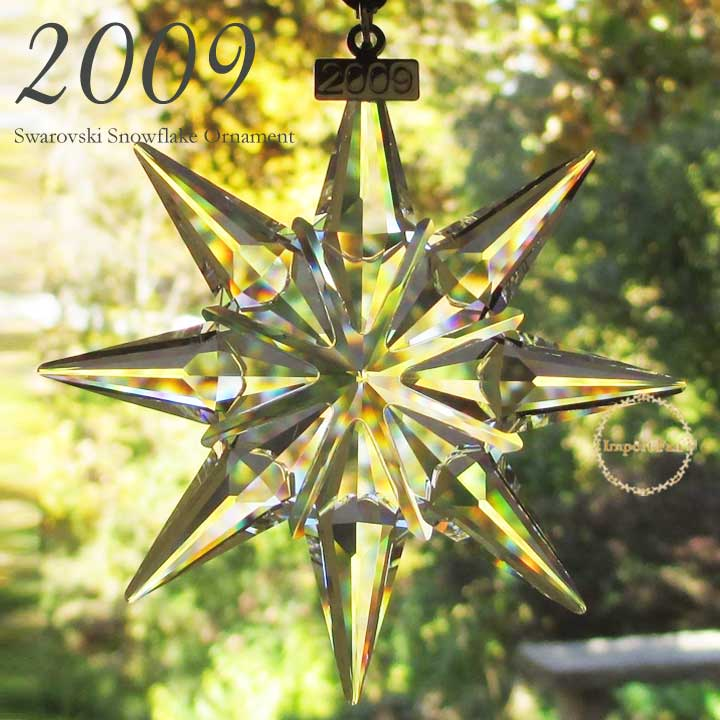 スワロフスキー スノーフレーク 2009年 限定品 Swarovski LARGE SWAROVSKI CRYSTAL CHRISTMAS ORNAMENT STAR SNOWFLAKE  983702
