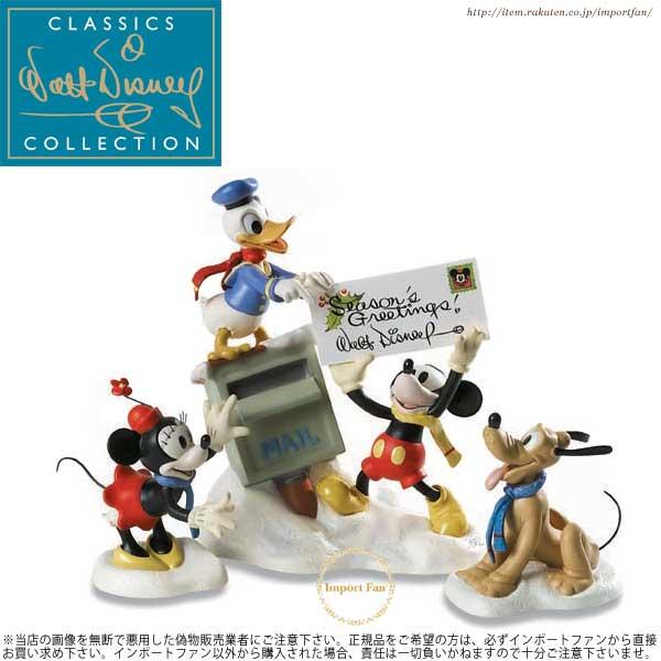 WDCC ミッキー ミニー ドナルド プルート クリスマスカード 1229844 Merry Messengers