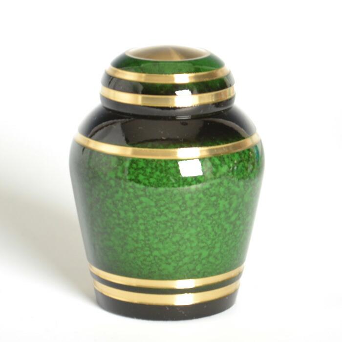 mini-funerary urn evergreen