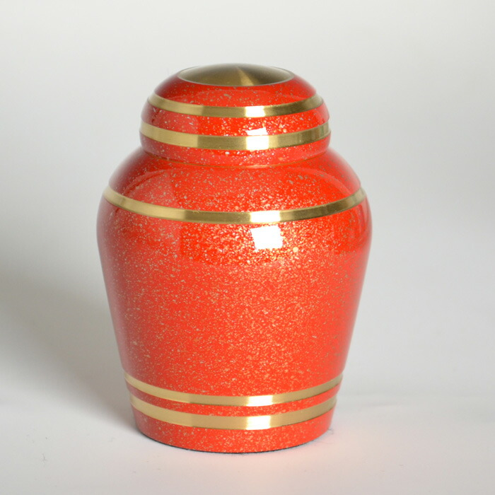mini-funerary urn red