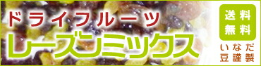 株式会社いなだ豆謹製 ドライフルーツ レーズンミックス 送料無料