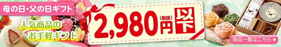 2,980円(税抜)以下のお気軽ギフト