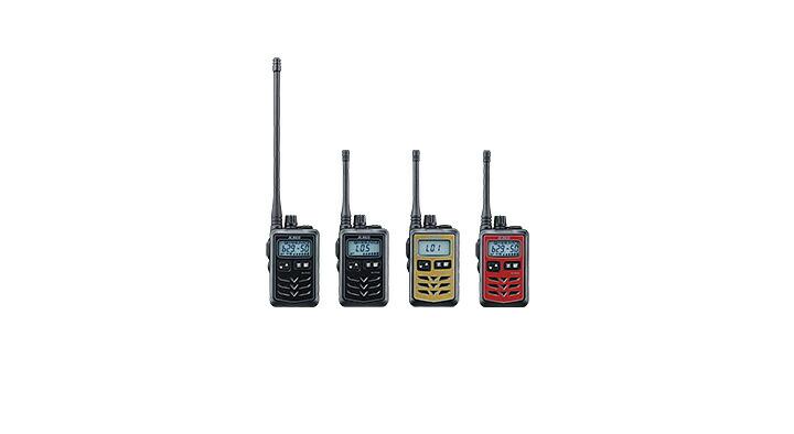 DJ-P321は全部で3カラーとロングアンテナの4種類を展開しています