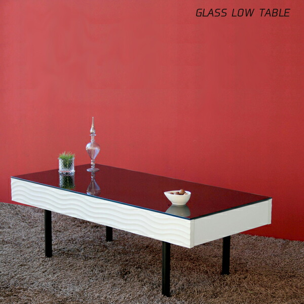 ローテーブル 完成品 ガラステーブル 日本製 北欧 モダン リビング収納 大川家具