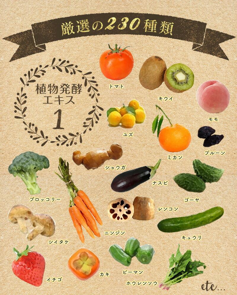 厳選の230種類 植物発酵エキス