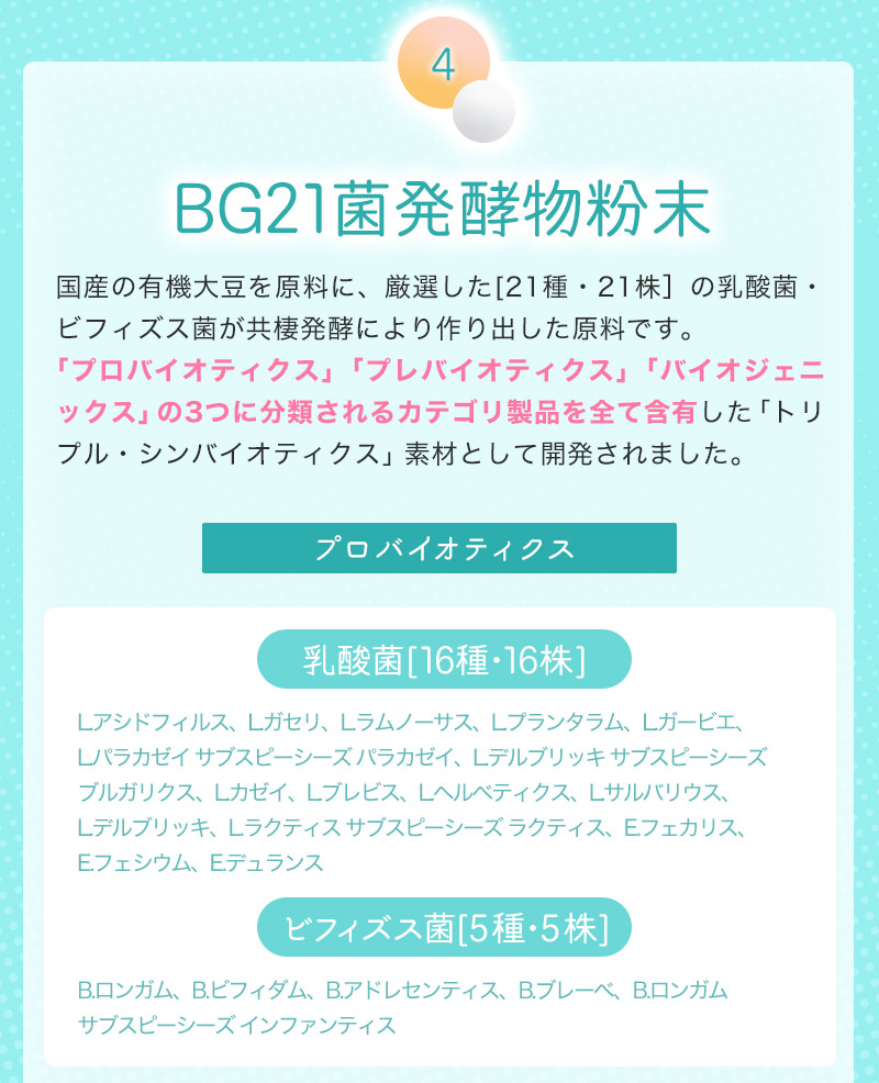 BG21菌発酵物粉末