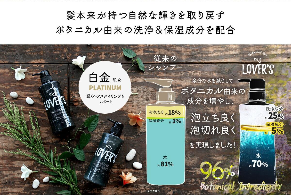 ボタニカル由来の洗浄&保湿成分を配合
