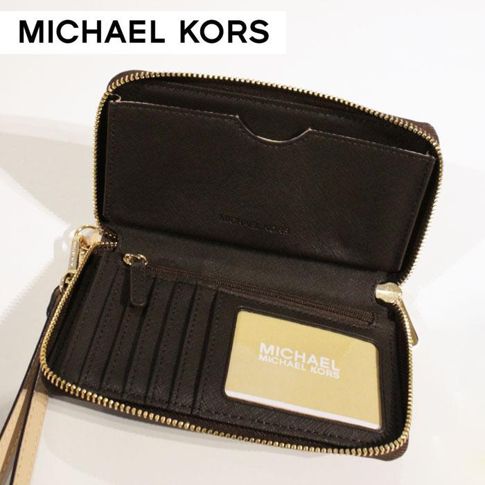 60a8a7b0bd96 New Michael Kors MICHAEL KORS wallets wallet smahocase wallet shopping bag  35H5GELZ3B BROWN Brown iPhone6s case leather leather LEATHER