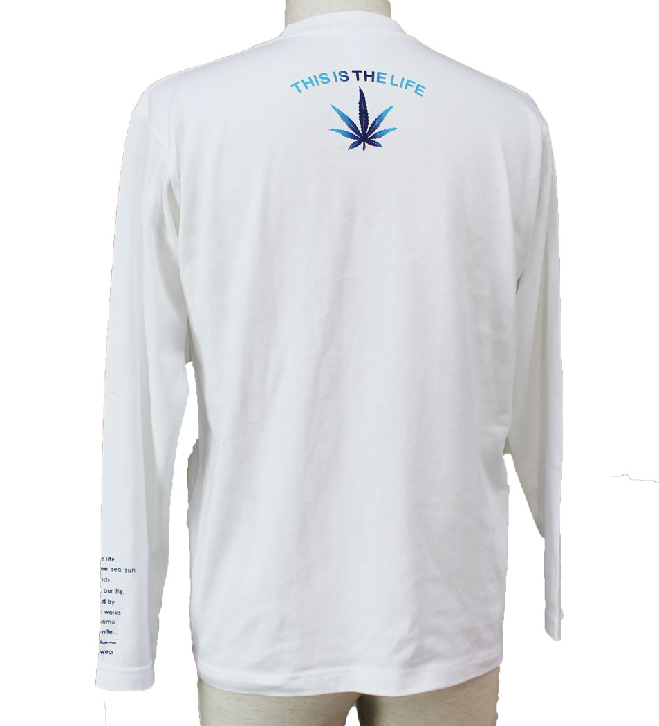 In Kokomo Inc Long T Shirt Mens Sleeve Logo Hemp Gradation Tendencies Tshirt Ny Life Hitam M Simple Basic
