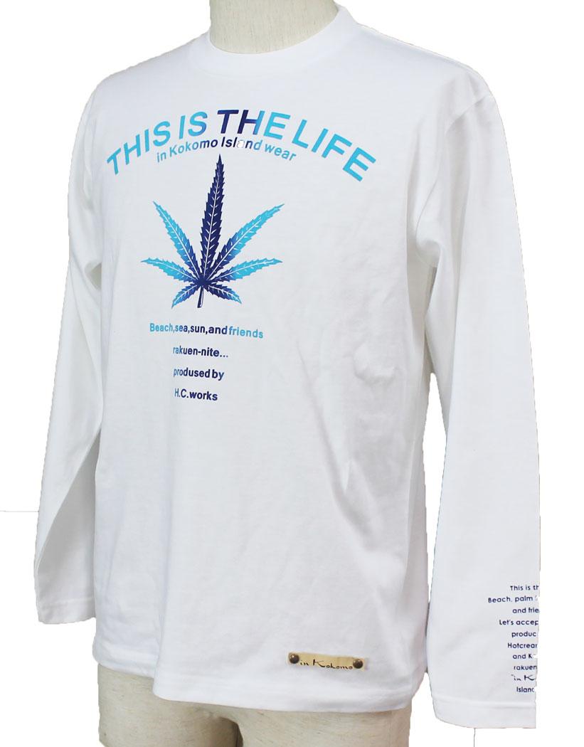 In Kokomo Inc Long T Shirt Mens Sleeve Logo Hemp Gradation Tendencies Tshirt Ny Life Hitam M