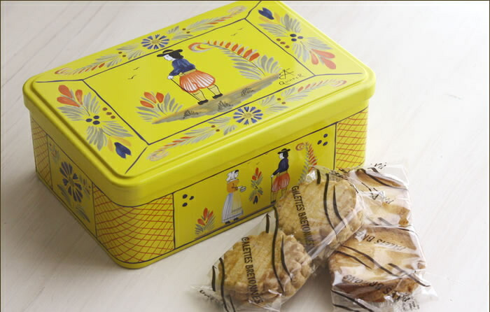 フランス産 ガレット・バタービスケット アンリオ缶 クッキー ル・ブルターニュ