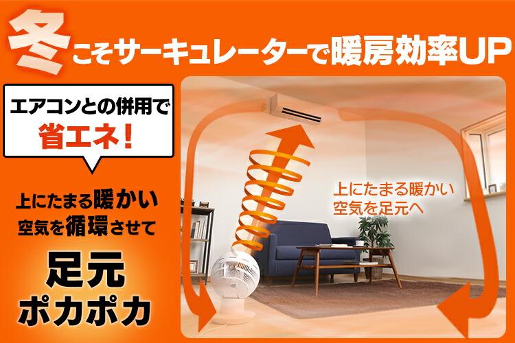 サーキュレーター併用で暖房効率UP!