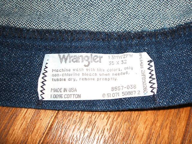 wrangler 13mwzpw 1980 made in usa w35 l32. Black Bedroom Furniture Sets. Home Design Ideas