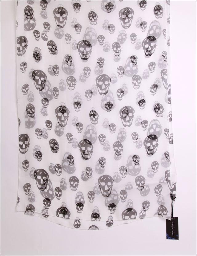 シルク スカーフ ドクロ スカル 骸骨