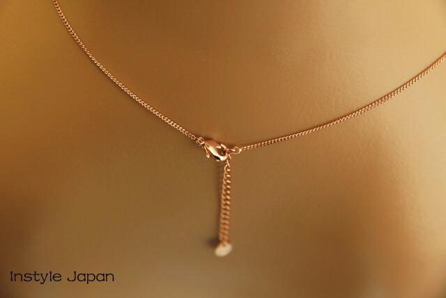 ネックレス レディース コールドメッキ ダイヤモンドのような輝き ジルコン 一粒 ペンダント アクセサリー