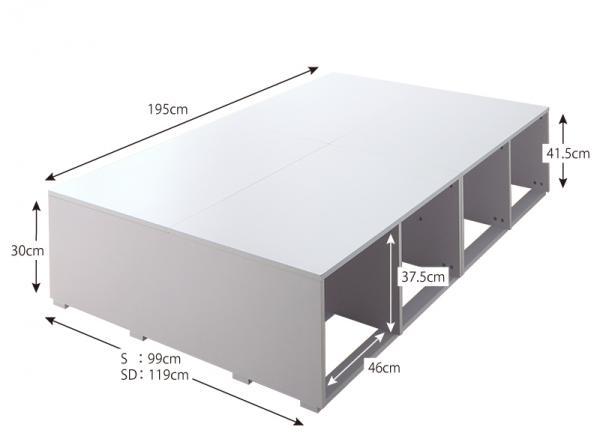 ベッド ベッドフレーム シングルサイズ 収納ベッド 収納付き 大容量 新生活 幅99cm 長さ195cm 高さ41.5cm 木製 ホワイト 北欧 フレームのみ 引き出しなし 布団でも使える 激安 送料無料 楽天 通販