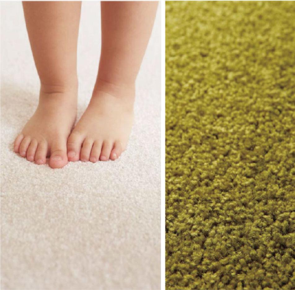 東リタイルカーペットの特徴、柔らかな肌触り