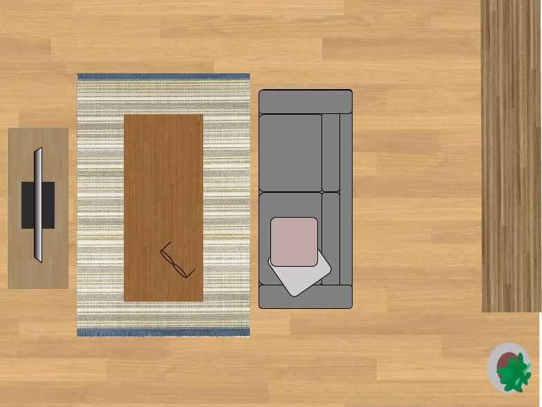 スミノエデザート48114(135×200cm)のサイズイメージ