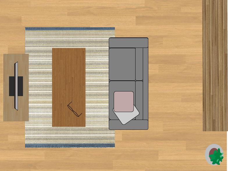 スミノエデザート48114(160×230cm)のサイズイメージ
