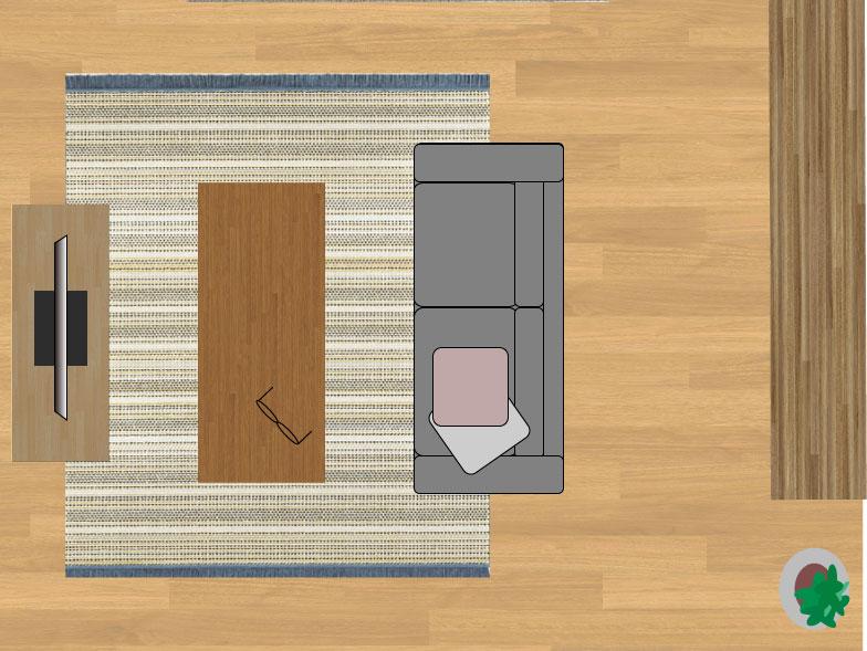 スミノエデザート48114(200×250cm)のサイズイメージ