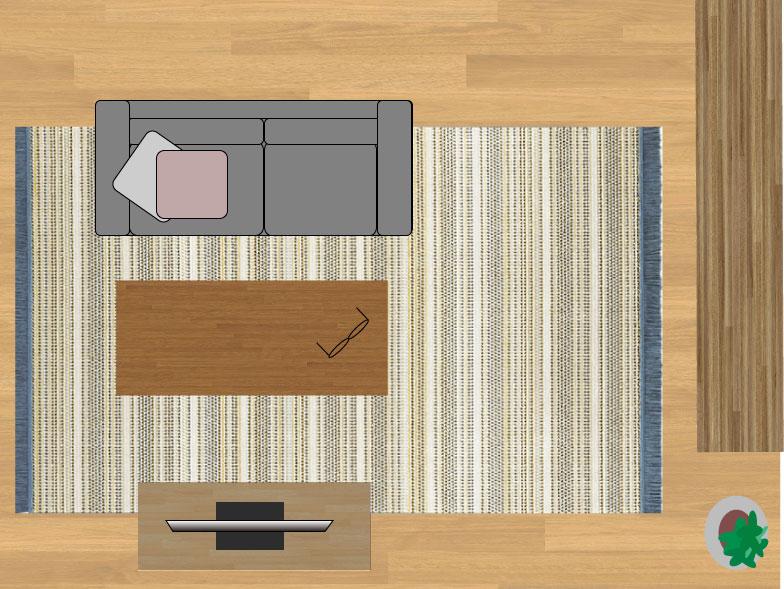 スミノエデザート48114(200×290cm)のサイズイメージ