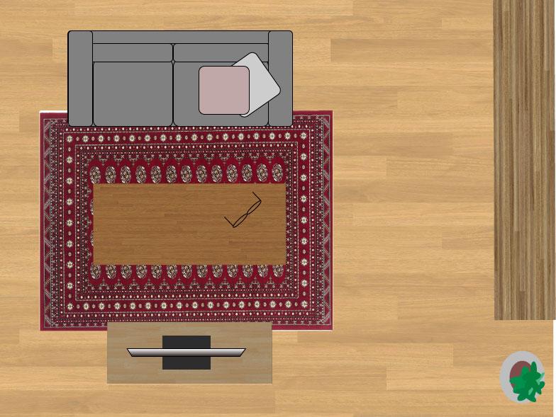 スミノエノビリティ6598レッド160×230cmのサイズイメージ