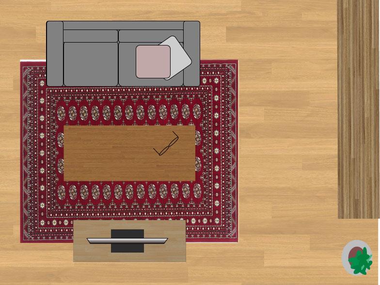 スミノエノビリティ6598レッド200×250cmのサイズイメージ