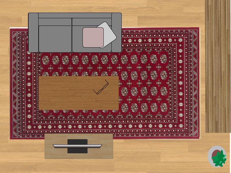 スミノエノビリティ6598レッド200×290cmのサイズイメージ