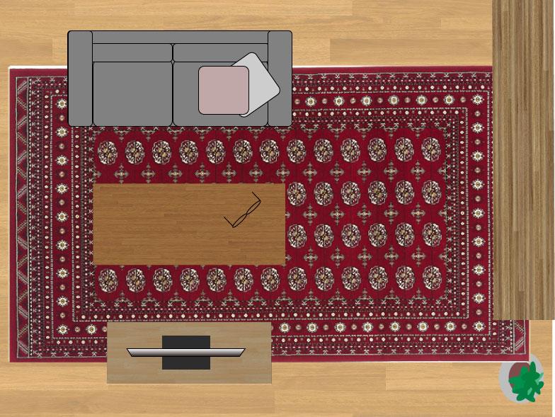 スミノエノビリティ6598レッド240×330cmのサイズイメージ