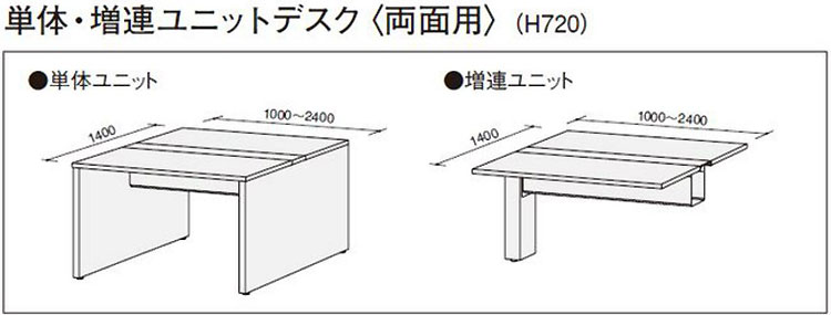 FFNL-1400FCの単体・増連ユニットの違い